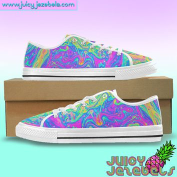 Rave Outfit Rave Clothing Music Festival Clothing Custom Vans Shoes Vans Old School Custom Sneakers Converse Canvas Sneakers Canvas Shoes