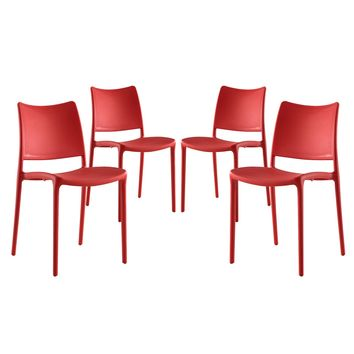 Hipster Dining Side Chair Set of 4 Red EEI-2425-RED-SET