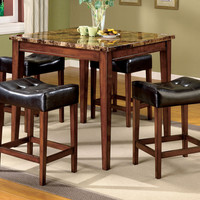 Counter Height Table With 4 Stools  Rockford Collection CM3800PT-5PK