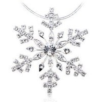 Amazon.com: Elegant Holiday Festive Christmas Season Festival Snowflake Crystal Necklace: Jewelry