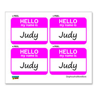 Judy Hello My Name Is - Sheet of 4 Stickers