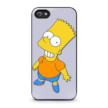 bart simpsons iphone 5 5s se case cover  number 1