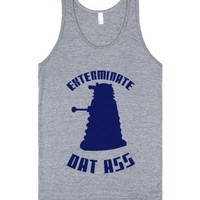 Exterminate Dat Ass-Unisex Athletic Grey Tank