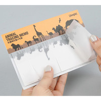 Chachap Animal translucent sticky memo note set - Jungle