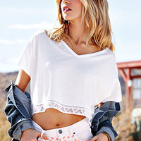 Lace-trim V-neck Tee - Dream Tees - Victoria's Secret