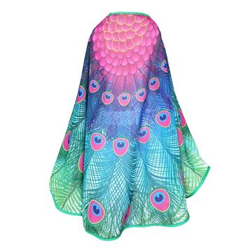 D.Q.Z 120*70 cm Girls Peacock Wing And Mask Kids Costumes Shawl Party Girl Dress Cartoon Character Cosplay Easter Gifts