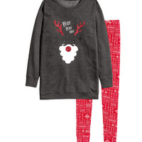 Pajamas with Top and Leggings - from H&M