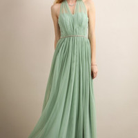 Saga Green Sweet Heart Neckline Maxi Dress
