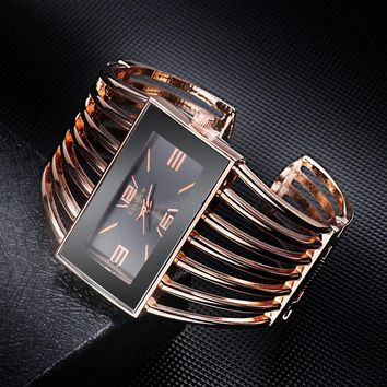 Women's Fashion Bangle Stainless Steel Bracelet Watches