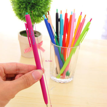 Candy Color Pens / gel ink pen / Pigment Liner print pattern point Gel pens(one order come with six colors)