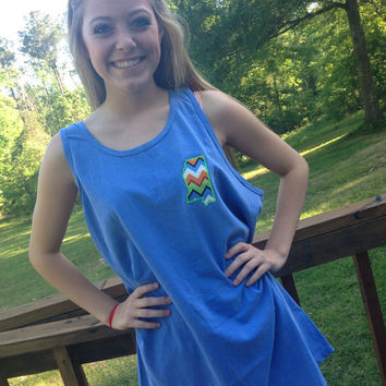 Monogrammed STATE tanks, oversized tanks, all states, ault size, mothers day