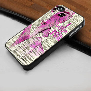 Audrey Hepburn I Believe In Pink   - Hard Case Print for iPhone 4 / 4s case - iPhone 5 case - Black or White (Option Please)