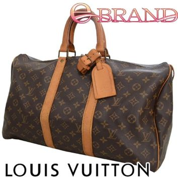 Authentic Louis Vuitton monogram Keepall 45 travel/boston/luggage bag M41428
