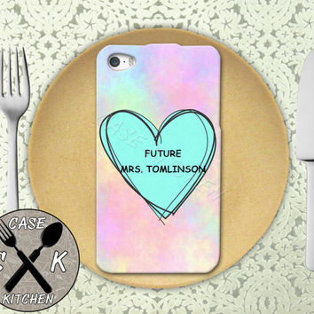 Future Mrs. Tomlinson Pastel Pink Tumblr Candy Heart Cute Rubber Tough Case iPhone 4/4s and iPhone 5 and 5s and 5c and iPhone 6 and 6 Plus +