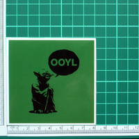 Only Once You Live Yoda Sticker OOYL YOLO Star Wars Decal Fun Jedi Internet Slang