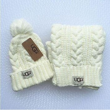 UGG Fashion Winter Knit Beanies Scarf Cap Hat