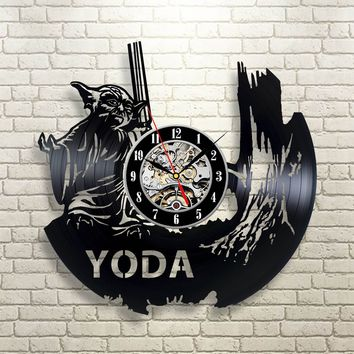 Yoda Vinyl Record Wall Clock