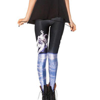 Astronaut In Outer Space Print Leggings
