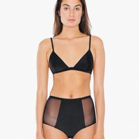 Mesh Side High-Waist Bikini Bottom | American Apparel