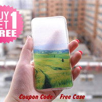 Nature Green Clear Phone Case Cover , Crystal Clear iPhone 6 6s Case , Custom Clear iPhone 6 6s Case , Cool iPhone Case , Transparent Case