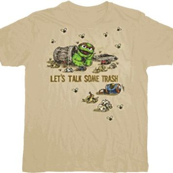 Sesame Street Oscar the Grouch Talk Trash Adult T-shirt