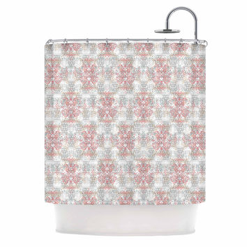 pink grey shower curtain. Carolyn Greifeld  Damask Splatter Pink Gray Shower Curtain Best And Products on Wanelo