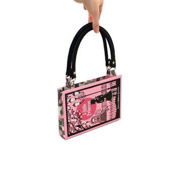 A Little Princess Bookpurse - Decadence Book Purse Clutch Handbag - Pink Halloween accessory