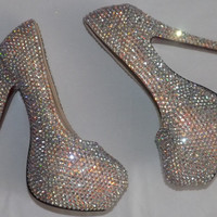 Sparkly AB Swarovski Crystal Shoes Any Size Any Style Any Colour