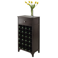 Ancona Modular Wine Cabinet With 1 Drawer & 24-Bottle