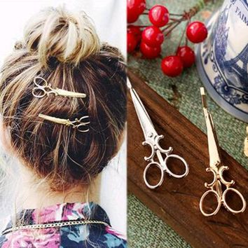 FAMSHIN 1 pc Popular Women Lady Girls Scissors Shape Barrette Hair Clip Hairpin Hair Accessories Decorations Free shipping