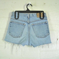 90s High Waist Shorts High Waste Shorts Denim Cut Off Shorts Denim Cutoff Jean Shorts Cut Off Jean Shorts Lands End High Wasted Shorts Women