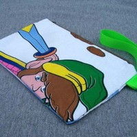 Link Clutch Bag Purse Legend of Zelda NES Vintage Fabric
