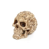 Design Toscano Skull's Soul Spirit Sculptural Box in Aged Bone