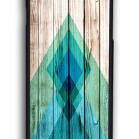 Tribal Aztec Chevron Tribal On Wood for Iphone 6 Hard Cover Plastic