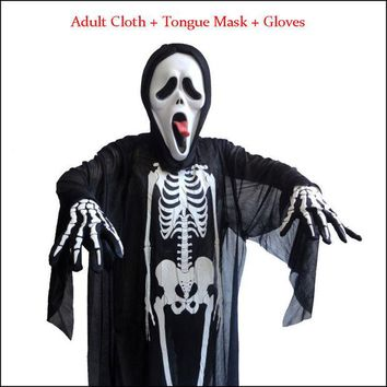 DCCKF4S Halloween Adult And Kids Parties Costume Props Skull Skeleton Ghost Clothes Decoration