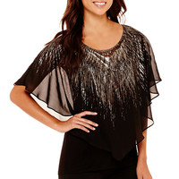 Alyx® Short-Sleeve Metallic Popover Top - JCPenney