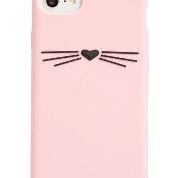 kate spade new york cat silicone iPhone 7/8 case | Nordstrom