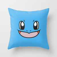 squirttle; Throw Pillow by Pink Berry Patterns