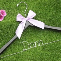 Wedding Gift,Bride gift Wedding Hangers,Name Hanger custom made wedding Hangers,Bridal Hangers