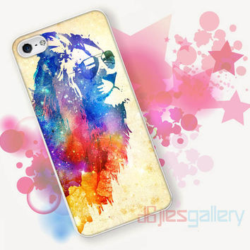 Colourful Lion Watercolor for iPhone 4/4S, iPhone 5/5S, iPhone 5C, iPhone 6 Case - Samsung S3, Samsung S4, Samsung S5 Case