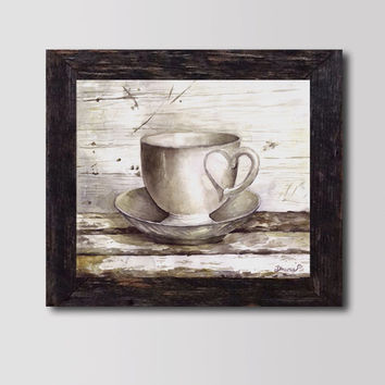 PRINT Still life Tea cup - Watercolor painting,   Fine Art Print, Gorgeous Art, High quality Print, Home & Wall decor