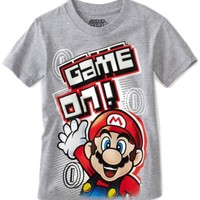 Mario Brothers Boys 2-7 Short Sleeve Game On Tee