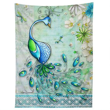 Madart Inc. Peacock Princess Tapestry