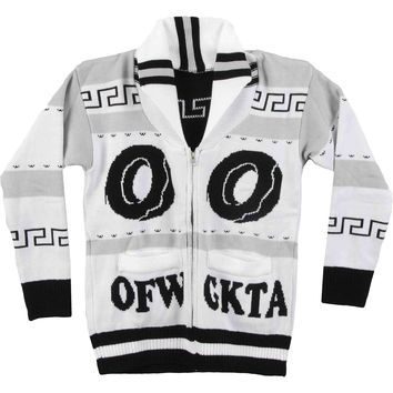 Odd Future Men's  OFWGKTA Donut Logo Sweatshirt White