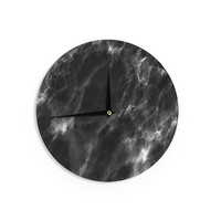 "Chelsea Victoria ""Black Marble "" Modern White Wall Clock"