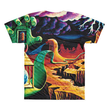 All-Over Printed T-Shirt trippy surreal The Practical Deception by Vincent Monaco