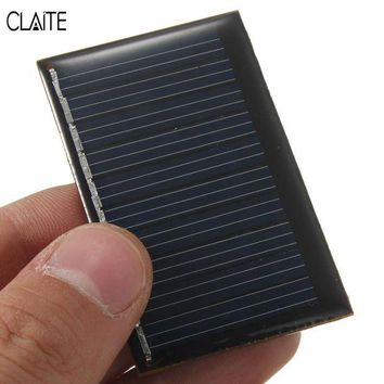 ONETOW CLAITE Hot 5V 0.22W 45mA Polycrystalline Silicon Epoxy Mini Solar Power Panel DIY Module Mini Solar Cells Battery Phone charger