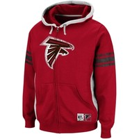 Atlanta Falcons Intimidating V Full-Zip Hooded Sweatshirt - Red