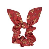 Gingerbread Man Scrunchie - Red