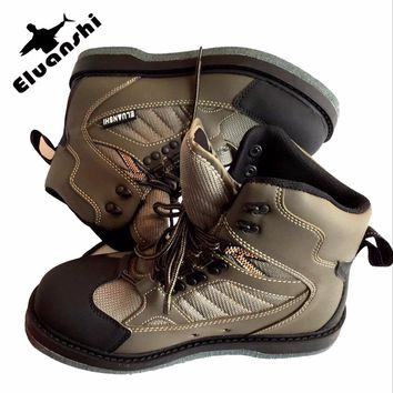 ELUANSHI rain boots men wading Rubber fly waders for fishing tactical Breathable flies shoes